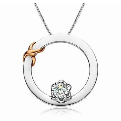 karat d white gold pendants in diamond carat round solid set roundsolpendant pendant solitaire